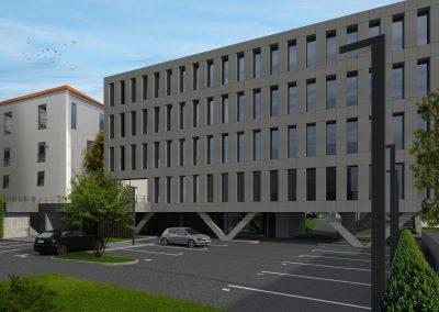 Pécs, Ágoston tér, irodaház